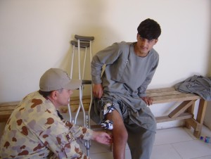Picture 5. Instructing exercises for the knee.